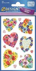 Naklejki z kwiatami - Serca