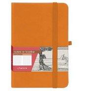 Notes A6 Kratka Secesja Pomarańczowy ANTRA