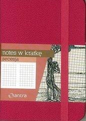 Notes A7 Kratka Secesja Różowy ANTRA