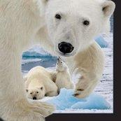 Magnes 3D Niedźwiedź polarny z młodym