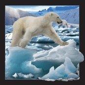 Magnes 3D Niedźwiedź Polarny w skoku