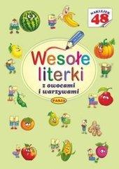 Wesołe literki z owocami i warzywami