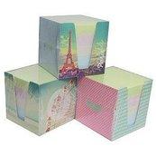 Kostka papierowa kolorowa 9x9x9 cm w kubiku pastel