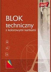 Blok techniczny A4/10K kolorowy MIX (10szt)