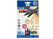 Flamastry Bicolor 10 szt-20 kolorów MILAN