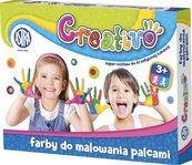 Farby do malowania palcami 4x50ml ASTRA