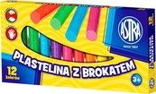 Plastelina z brokatem 12 kolorów ASTRA