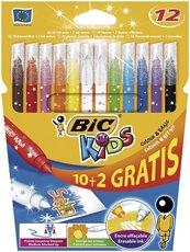Flamastry KIDS Colour & Erase 10+2 kolory BIC