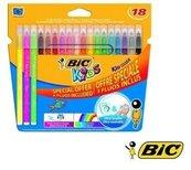 Flamastry Kid Couleur Fluo 15+3 kolory BIC