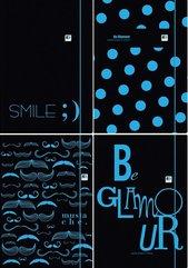 Teczka z gumką A4+ Black&Blue (10szt)