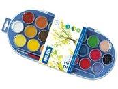 Farby akwarelowe 22 kolory 30mm z pędzelkiem MILAN