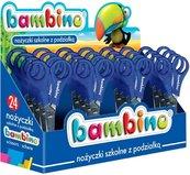 Nożyczki szkolne z podziałką (24szt) BAMBINO