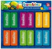 Gumka do ścierania (36szt) BAMBINO