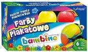 Farby plakatowe 6 kolorów 20ml BAMBINO