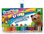 Kredki ołówkowe 24 kolory BAMBINO