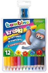 Kredki ołówkowe 12 kolorów BAMBINO