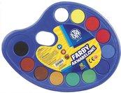 Farby akwarelowe paletka fi 30mm 12 kolorów ASTRA