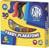 Farby plakatowe w tubach 6 kolorów 30ml ASTRA