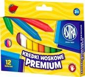Kredki woskowe Premium 12 kolorów bls ASTRA