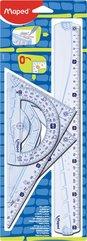 Zestaw Geometric lin., ekier., kątomierz bls MAPED