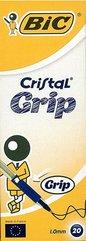 Długopis Cristal Grip niebieski (20szt) BIC