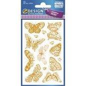 Naklejki papierowe pozłacane motyle