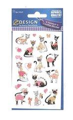 Naklejki papierowe - różowe koty