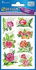 Naklejki papierowe - róże