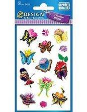 Naklejki - Motyle i kwiaty