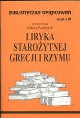 Biblioteczka opracowań nr 089 Liryka starozytnej..