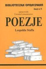 Biblioteczka opracowań nr 071 Poezjie L.Staffa