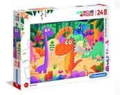 Puzzle 24 maxi Super kolor Jurassic friends
