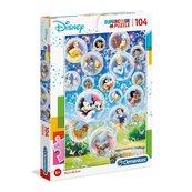 Puzzle 104 Super kolor Disney classic