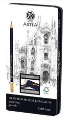 Zestaw ołówków do szkicowania Artea 12szt ASTRA
