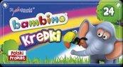 Kredki w pudełku metalowym 24 kolory BAMBINO