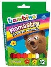 Flamastry 12 kolorów BAMBINO
