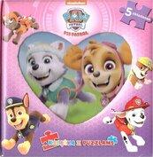 Psi Patrol. Książka z puzzlami - różowa