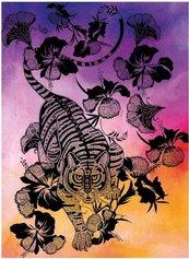 Karnet B6 z kopertą Hibiscus Tiger