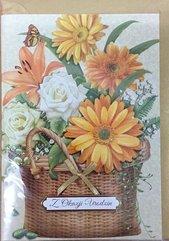 Karnet urodziny B6 Premium 3 + koperta