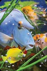 Mini kartka 3D Niebieska Ryba