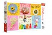 Puzzle 1000 Neon Color Line - Słodki tydzień TREFL