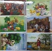 Karnet przestrzenny duży Wielkanoc + koperta MIX