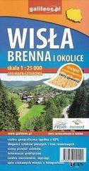 Mapa wodoodporna - Wisła i Brenna i okolice
