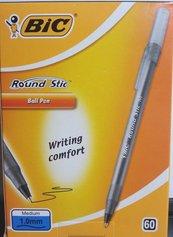 Długopis Round Stic czarny (60szt) BIC