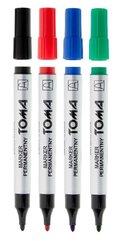 Marker permanentny okrągły mix 4 kolory TOMA