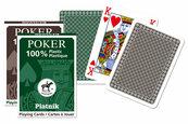 Karty pojedyncze talie plastik Poker