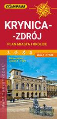 Mapa Krynica-Zdrój ,plan miasta i okolice1:17500
