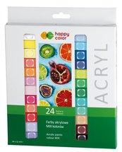 Farba akrylowa 12ml 24 kolory HAPPY COLOR