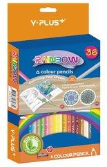 Kredki ołówkowe Rainbow + temperówka 36 kol