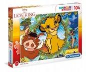 Puzzle 104 Super kolor Lion king